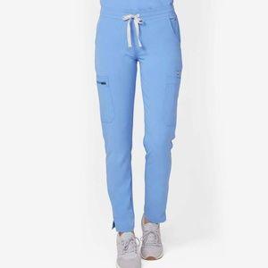 NWT FIGS YOLA SKINNY Ceil Blue Scrubs Pants TALL